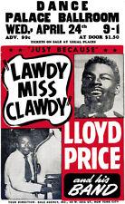 Lloyd Price - Palace Ballroom - 1957 - Concert Poster
