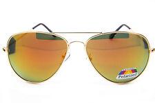 Men Women Vintage Retro Aviator Sunglasses Mirrored Polarized Lens Metal Frame