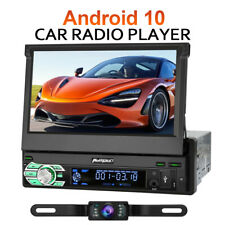 PUMPKIN Single Din Android 10 Car Stereo GPS DSP AUX 7 Inch Touch Screen Camera