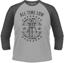 All Time Low Emblem T-Shirt Unisex Manica 3/4 Size Größe L PHM