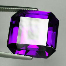 200+ Cts Huge Asscher Emerald (30x30 MM) Lab Simulated Violet Sapphire AAA N7
