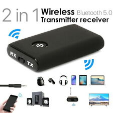 More details for wireless bluetooth 5.0 transmitter receiver a2dp 3.5mm audio jack aux adapter uk