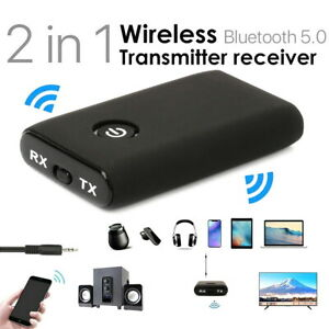 Wireless Bluetooth 5.0 Transmitter Receiver A2DP 3.5mm Audio Jack Aux Adapter UK