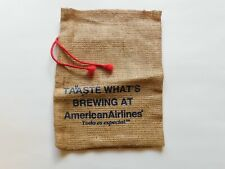 American Airlines Advertising 12 by 9 Inch Burlap Sack - FREE SHIPPING