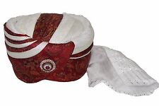 Mens Handmade Hat Turban Pagdi Kulla Indian Wedding Bollywood All Colors & Sizes