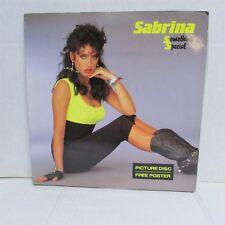 SABRINA SALERNO Something Special Picture Disc VINYL LP & POSTER Import DENMARK