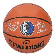 Jason Kidd Dallas Mavericks Signed Team Logo Basketball & 2011 NBA Champ Insc