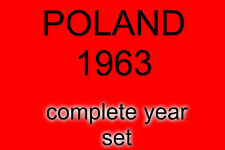 POLAND 1963 COMPLETE SET OFUSED STAMPS !!! NICE PRICE, PERFECT!