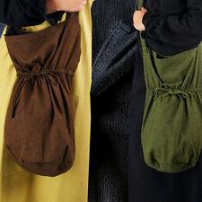BEUTEL GROSS grober Webstoff Farbwahl schwarz braun grün Mittelalter NT9090