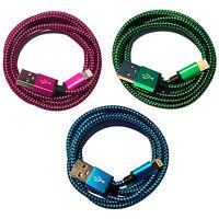 3x 3m Nylon USB Ladekabel Datenkabel SET für iPhone 8 X 6 7 Plus 7S 6S 5 SE iPad