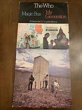 The Who Vinyl Lot Magic Bus My Generation 2 Lp Who's Next Pristine Vinyl! Ex