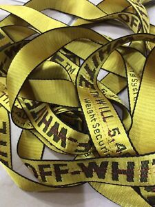 Off-White12 Tie Down 20ft  Nylon Industrial Yellow Belt Style