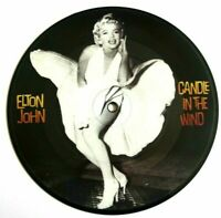 "EX/EX! Elton John Candle In The Wind 7"" Vinyl Pic Picture Disc Marilyn Monroe"