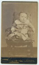 Chicopee Falls MA photo by Judd 42 Front St. - Baby sitting in Chair - CDV