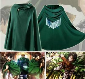 Anime Attack on Titan Shingeki no Kyojin Scouting Legion Cloak Cosplay Cape FB