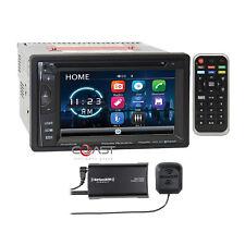 Power Acoustik DVD USB SD BT SiriusXm Tuner Camera Input Car Stereo Receiver