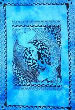 Small Poster Mermaid Design Wall Hanging Tapestry Cotton Fabric Beautiful Indian