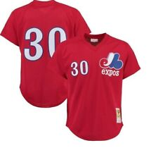 Authentic Mitchell & Ness Montreal Expos #30 Baseball Jersey New Mens Sizes $90