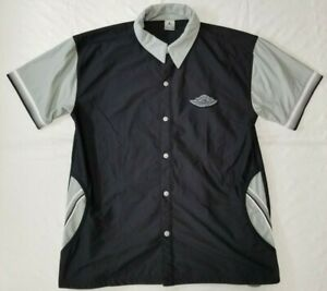 Air Jordan 1 shadow button-snap front warm-up top men sz XL gray/black