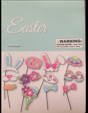 EASTER BUNNY SPRING PHOTO BOOTH PROPS EASTER EGG HUNT PARTY SUPPLIES SET OF 12