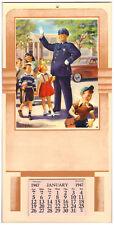 "VINTAGE ""The Kid's Pal"" ART FRAHM Calendar (1947) Pop Culture POLICEMAN"
