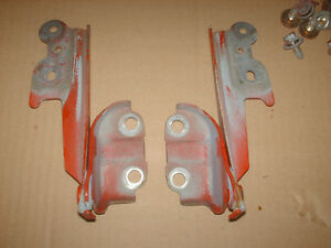 Mazda MX3 MX-3 Red Hood Hinges 92 93 94 RH LH Used OEM with Bolts