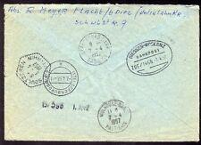 █ Enveloppe en Exprès Durch Eilboten depuis Allemagne à Soultzeren 6 cachets █