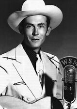 HANK WILLIAMS MICROPHONE POSTER NEW  !