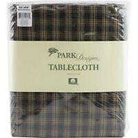 """Sturbridge Black Plaid Tablecloth 60"""" x 84"""" Park Designs Country Primitive"""