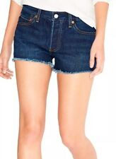 NWT $49.50 Levi's 501 Denim Shorts Cut Off ~ Ripped Button Fly For Women Sz 32