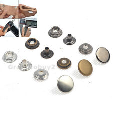Heavy duty Poppers Snap Fasteners Sewing Leather Craft Stud Clothing Buttons UK