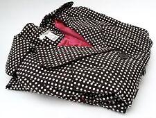 VERTIGO /Paris - Brown + White Spot Tailored Lined Coat - Medium - New no tags.