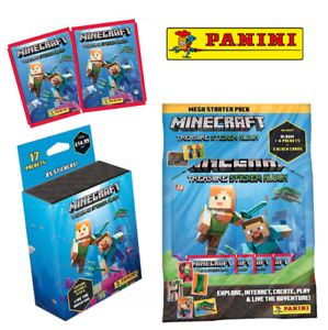 Panini - Minecraft Treasure Sticker Collection - Packs, Starter Pack, Multiset