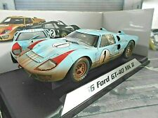 FORD GT40 V8 24h Le Mans 1966 #1 Ken Miles / Hulme DIRTY V Gulf Shelby Coll.1:18