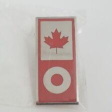 New 2010 Vancouver Canada Olympics Lapel Pin, Sponsor: Apple / Ipod, Maple Leaf