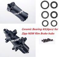 J&L Ceramic Bearing Kit*6pc for Zipp NSW Cognition Hubs 202,303,404,454,808&858