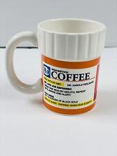 Rx Prescription Bottle Ceramic Coffee Tea Mug Cup Funny Gift