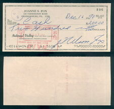 (123) Signed Personal Check Nellie Fox White Sox Autographed December 16, 1970