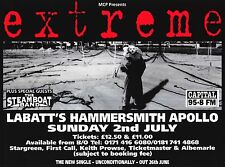 "Tour Poster~Extreme w/Steamboat Band London 1995 Music Rock Live 30x40"" Original"