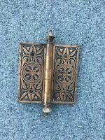 One Antique Entrance Door Brass Hinge Eastlake 5x5 Old Vintage  164-18J