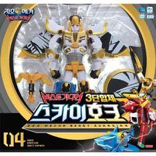 Geo Mecha Beast Guardian Sky Hawk 3 Copolymer Transformer Robot Toy-Sound,Light