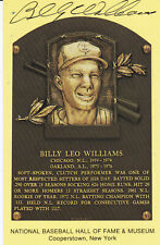 Billy Williams Autographed Hall of Fame Postcard