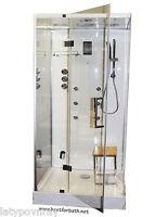 Steam Shower Cabin.With aromatherapy,Hydro Massage,Bluetooth.6 Year US Warranty