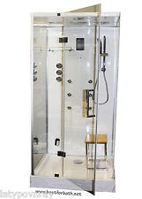 Steam Shower Cabin.With aromatherapy,Hydro Massage,Bluetooth.6 Year US Warranty