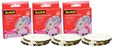6 rolls Scotch 3M ATG Tape Adhesive Glider Gun acid-free Refills 1/4x36yd each