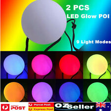 Light Up Poi Balls Pair 7 Colors LED Glow POI Thrown Ball Belly Dance Hand Props