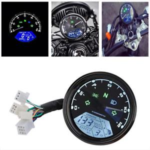 LCD Digital Odometer Motorcycle Speedometer Tachometer Gauge Parts Universal