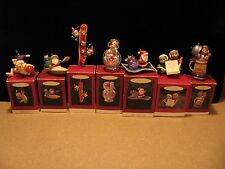 Lot of 7 Assorted 1994 Hallmark Christmas Ornaments in boxes