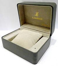 ORIGINAL LOUIS ERARD BOX für ARMBANDUHREN - GRAU - ca. 1980er Jahre