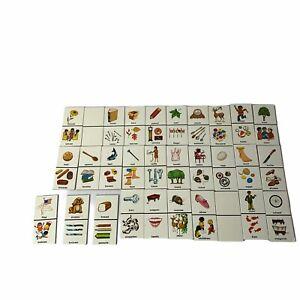 VintageDLM  singular plural dominoes educational homeschool Set of 30